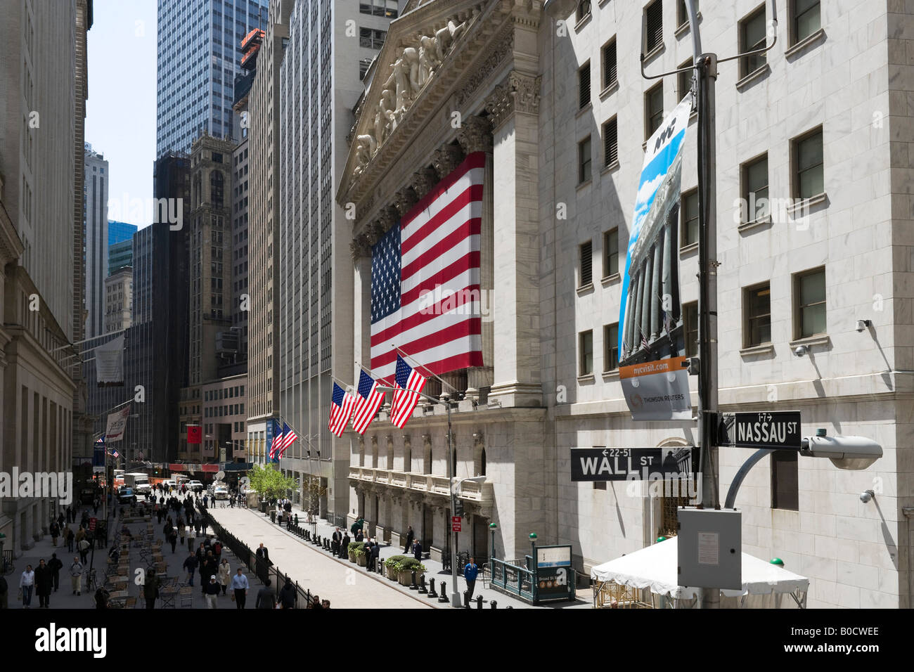 New York Stock Exchange (NYSE), Wall Street, Financial District, NYC, New York City Photo Stock