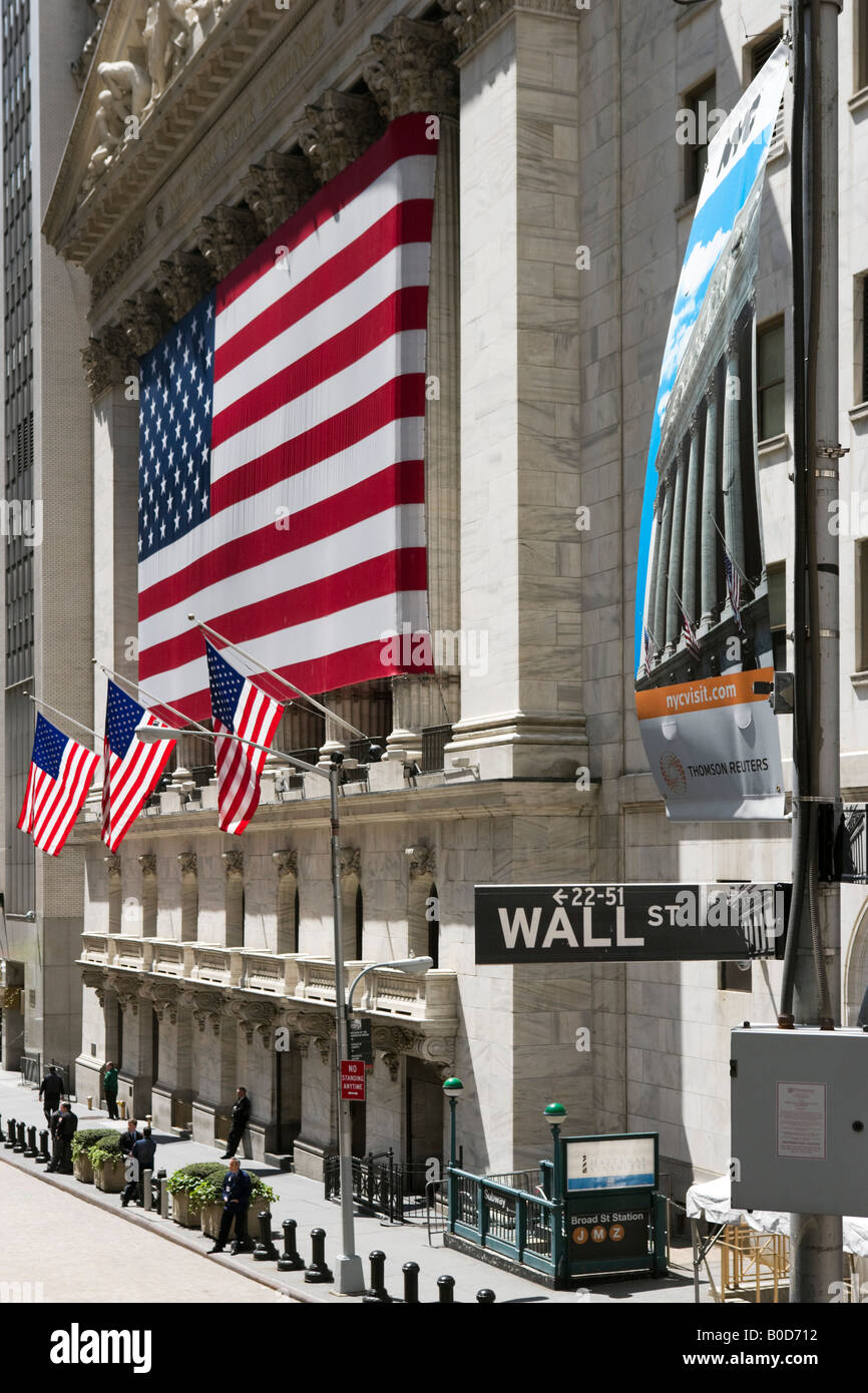 Bourse de New York, Wall Street, Financial District, New York City Photo Stock