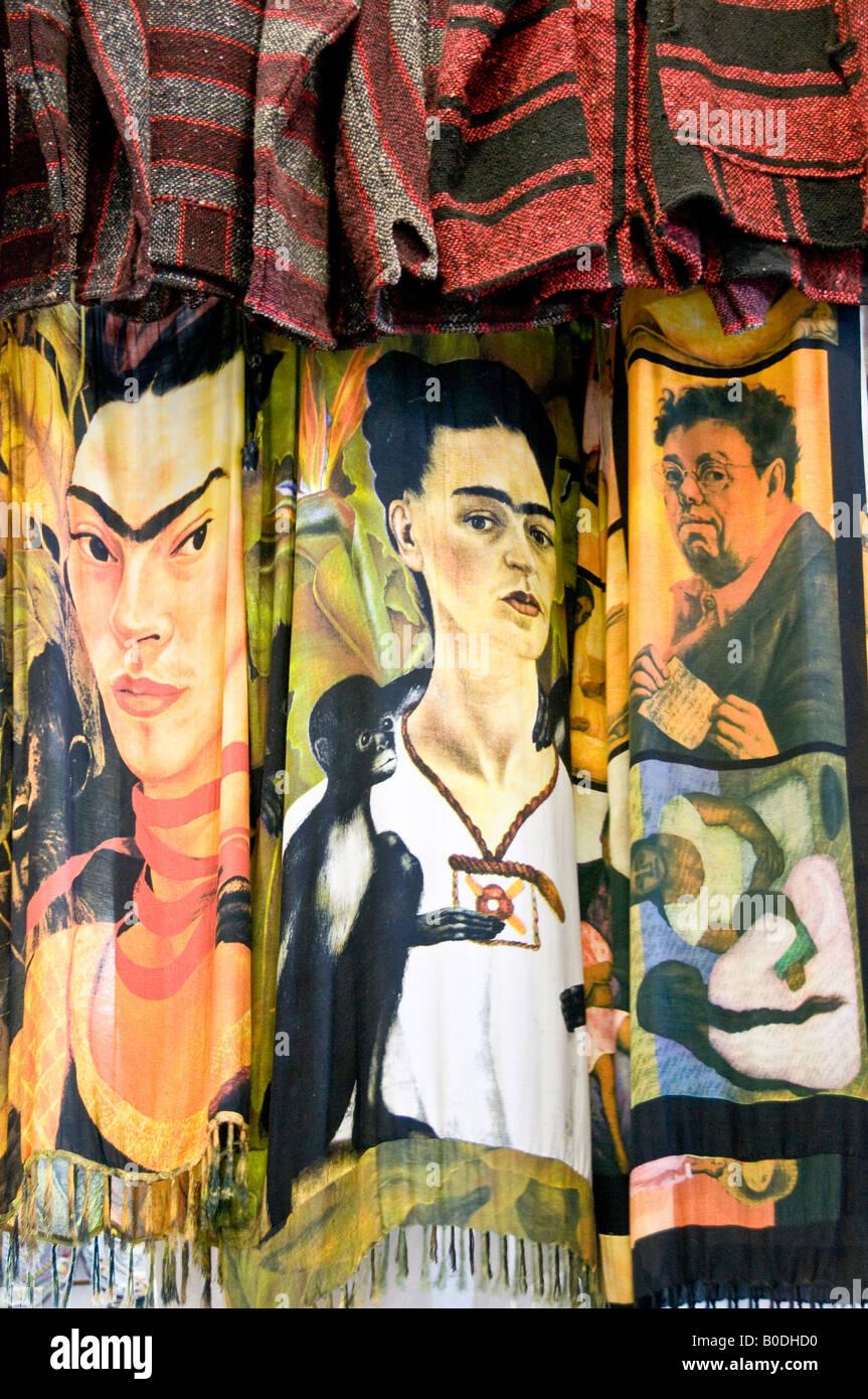 tout à fait stylé meilleure sélection de modélisation durable Foulards souvenirs de Frida Kahlo et Diego Rivera Mexique ...