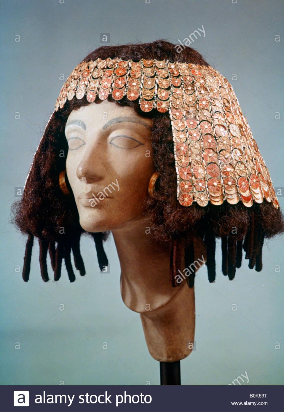 Coiffure De L Egypte Ancienne Et Boucles D Oreilles 18eme Dynastie