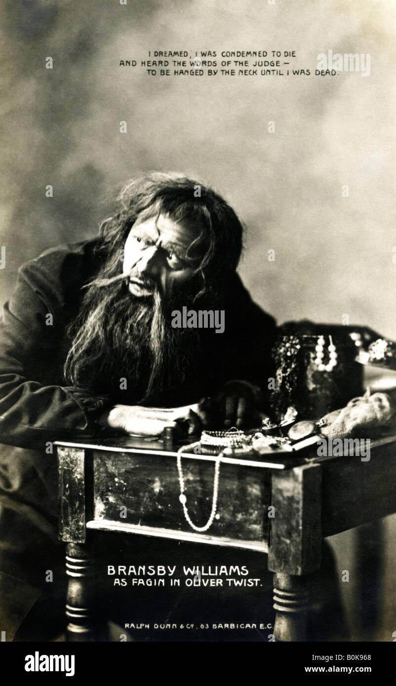 Bransby Williams (1870-1961), acteur britannique, au début du xxe siècle. Artiste: Ralph Dunn & Photo Stock