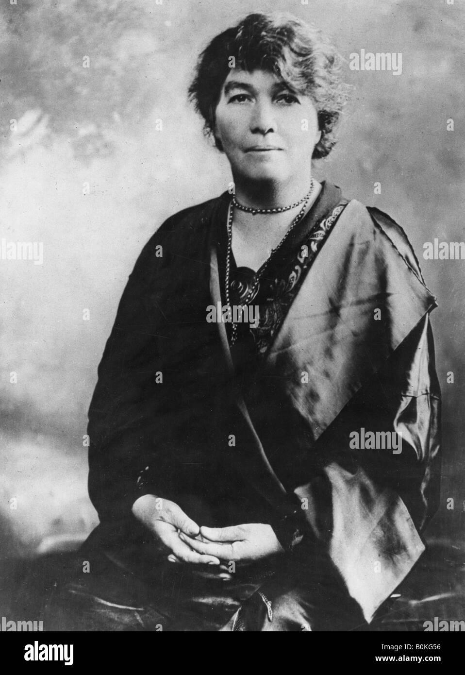 Emmeline Pethick-Lawrence (1867-1954), suffragette britannique, au début du xxe siècle. Artiste: Inconnu Banque D'Images