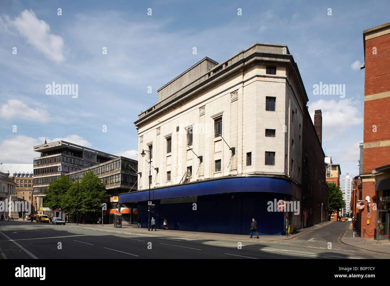Fermé Cinéma Odeon à Manchester, UK Photo Stock