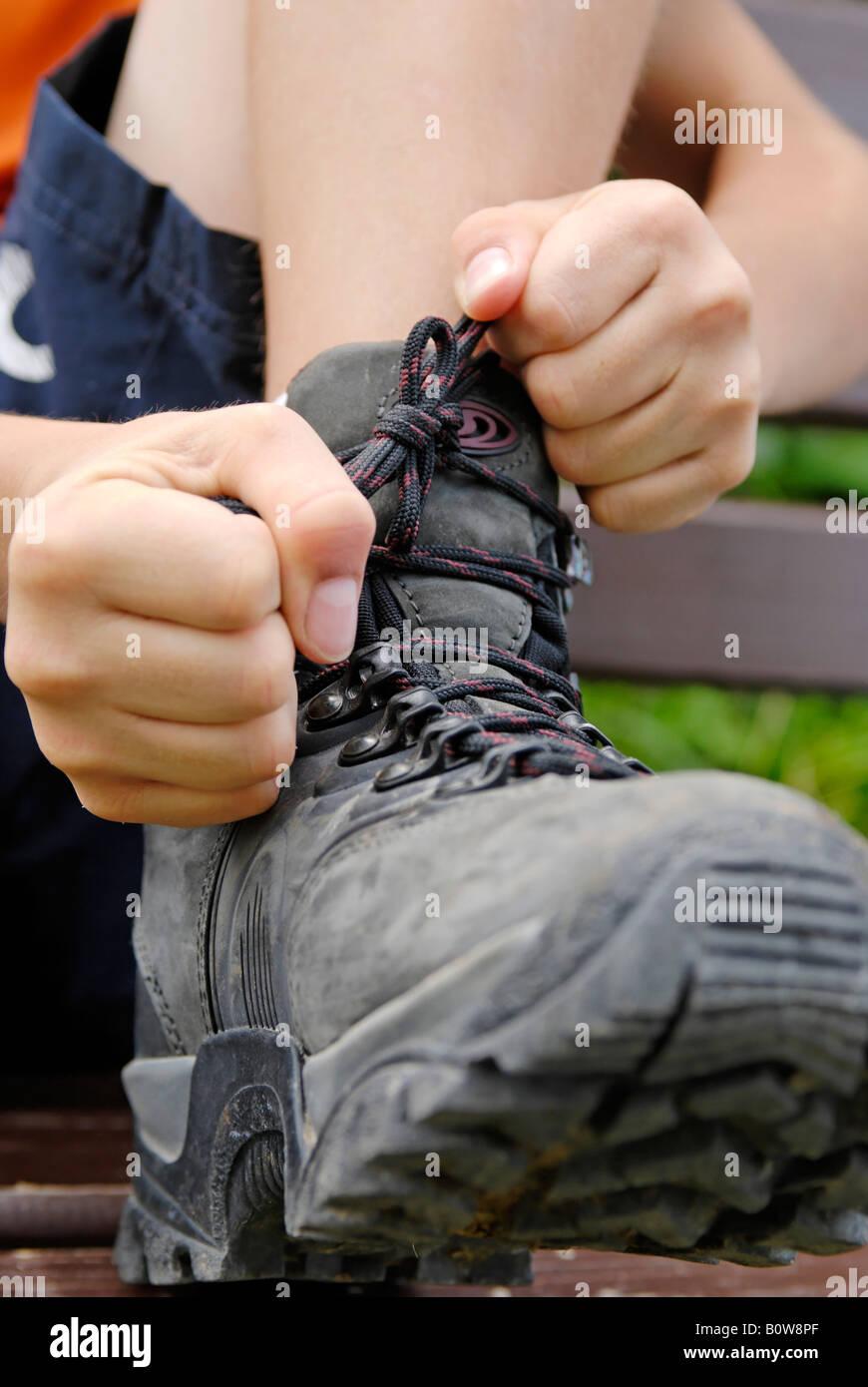 La fixation de l'alpinisme, randonnée Banque D'Images