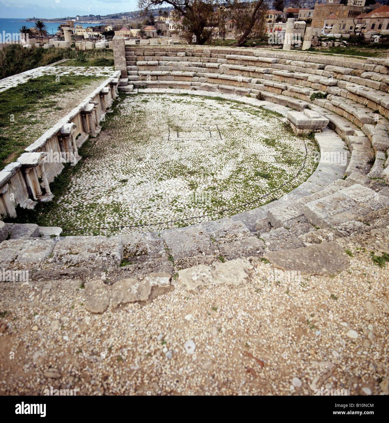 Théâtre romain de Byblos Lebabnon Photo Stock