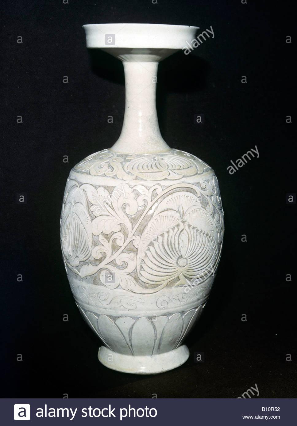 Vase chinois de la Dynastie Sung Teng Feng Honan Tzu type Choe 11e c annonce Copyright: Collection AAA Ltd Photo Stock