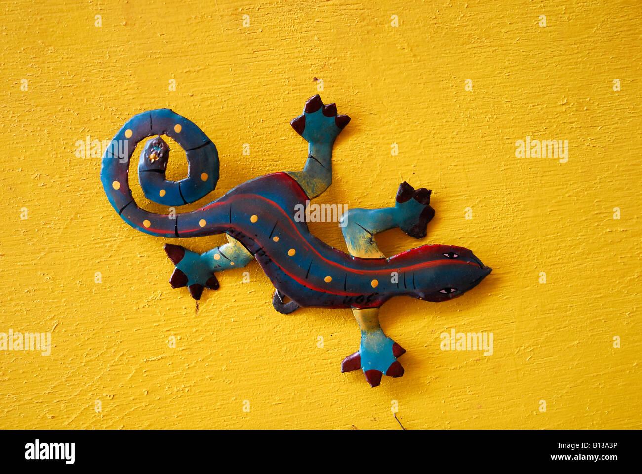Gecko coloré Mer des Caraïbes Netherland Antilles Curacao Banque D'Images