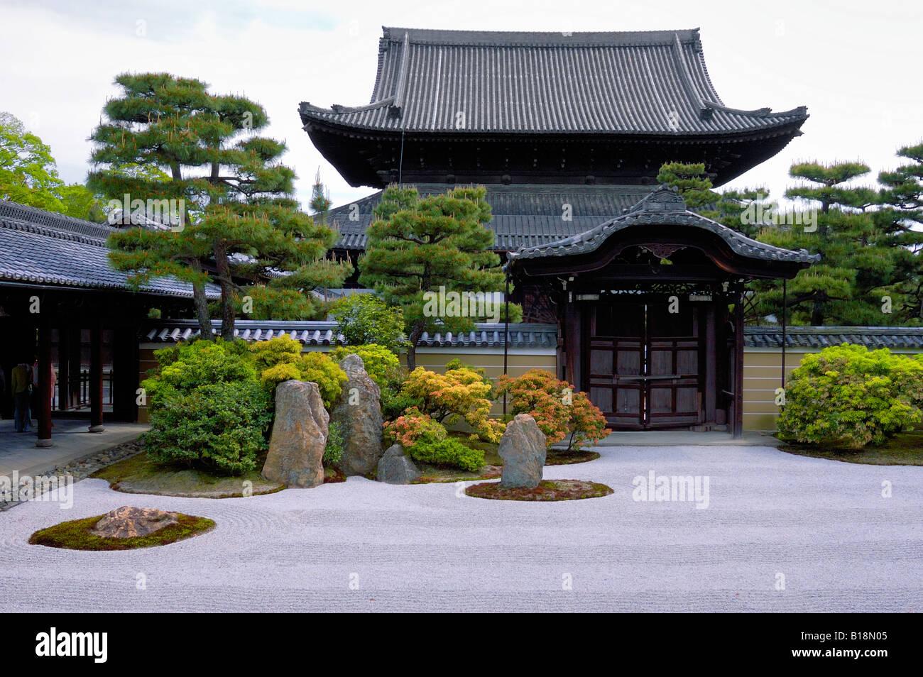 Sekitei Jardin De Pierre Dans Le Temple Ryoanji Japon Kyoto Banque D