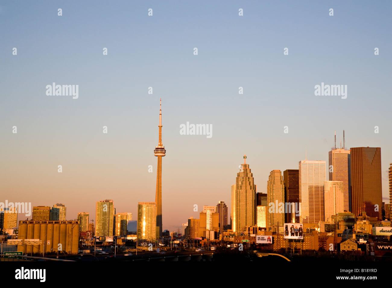 Ville de Toronto au matin vu de l'Est, Toronto, Ontario, Canada. Banque D'Images