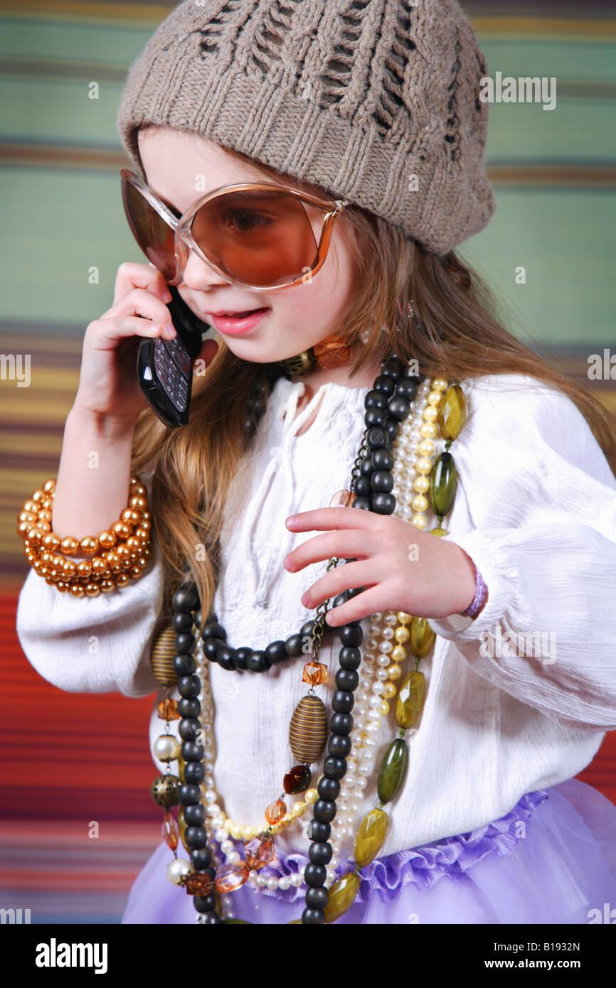 Girl dress up Photo Stock