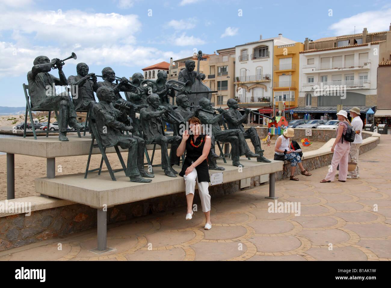 L Escala sur la baie de Roses Costa Brava Espagne Photo Stock