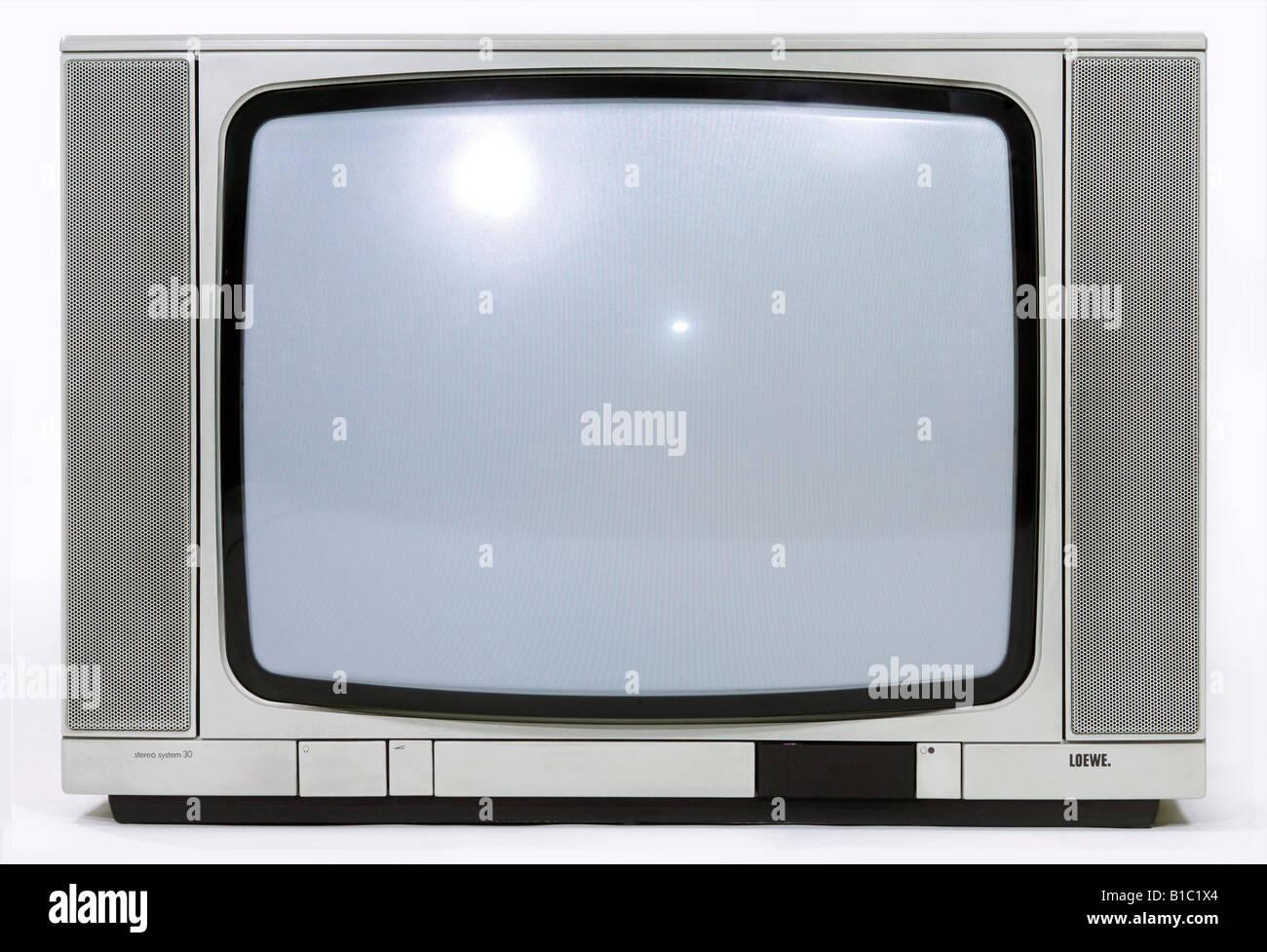 La télévision, radiodiffusion, télévision, d'un système stéréo Loewe typ Photo Stock