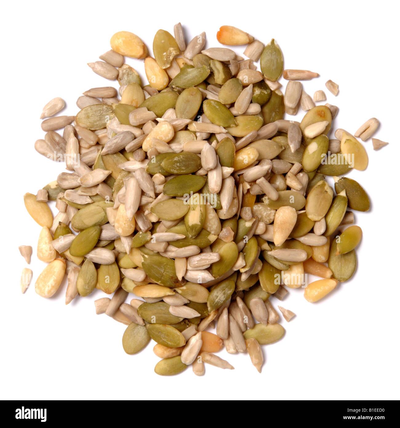 Graines et noix Photo Stock