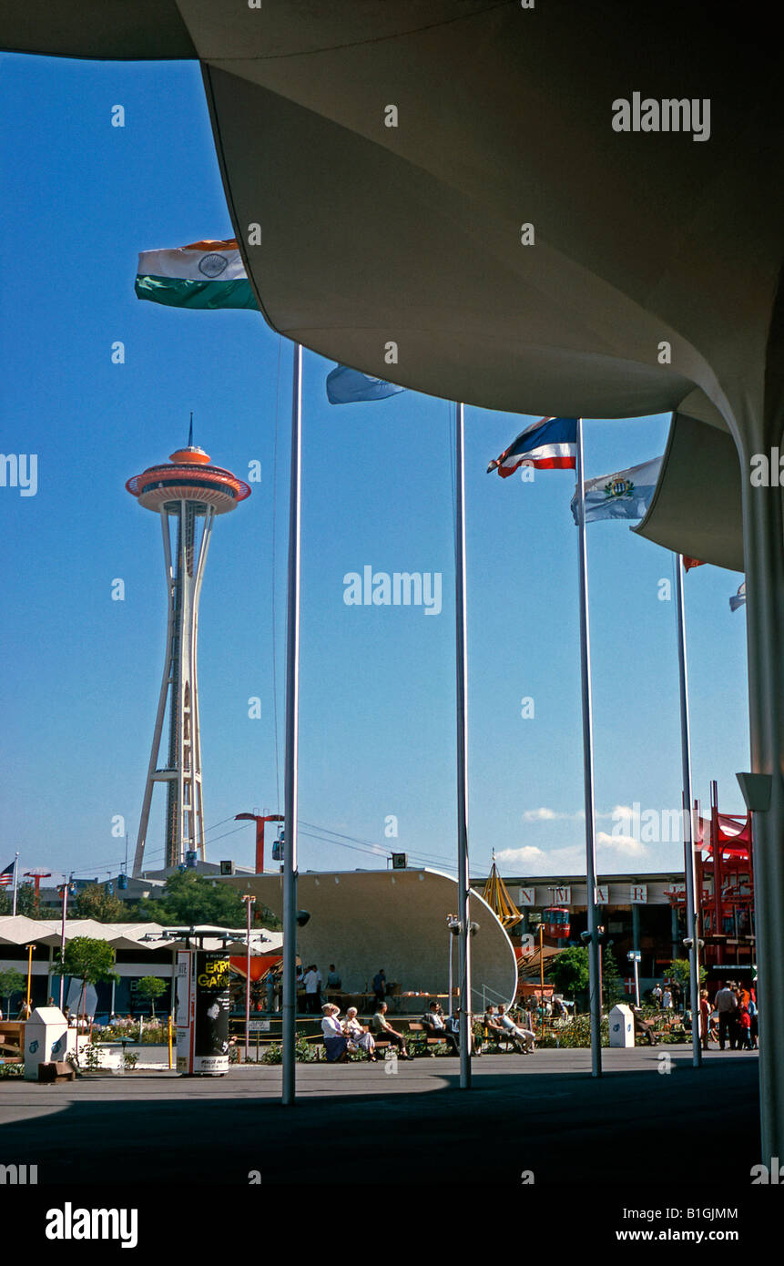Space Needle à la foire mondiale de Seattle, 1962, Washington State, USA Photo Stock