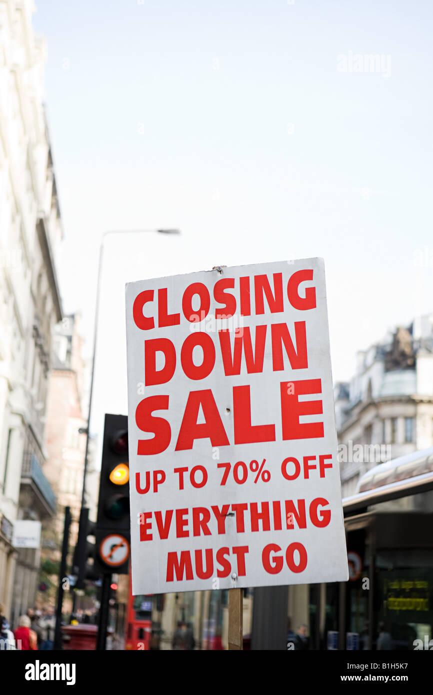 Fermeture sale sign Banque D'Images