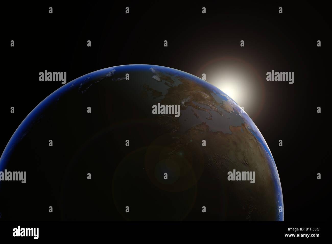 Bien sur la planète terre Photo Stock