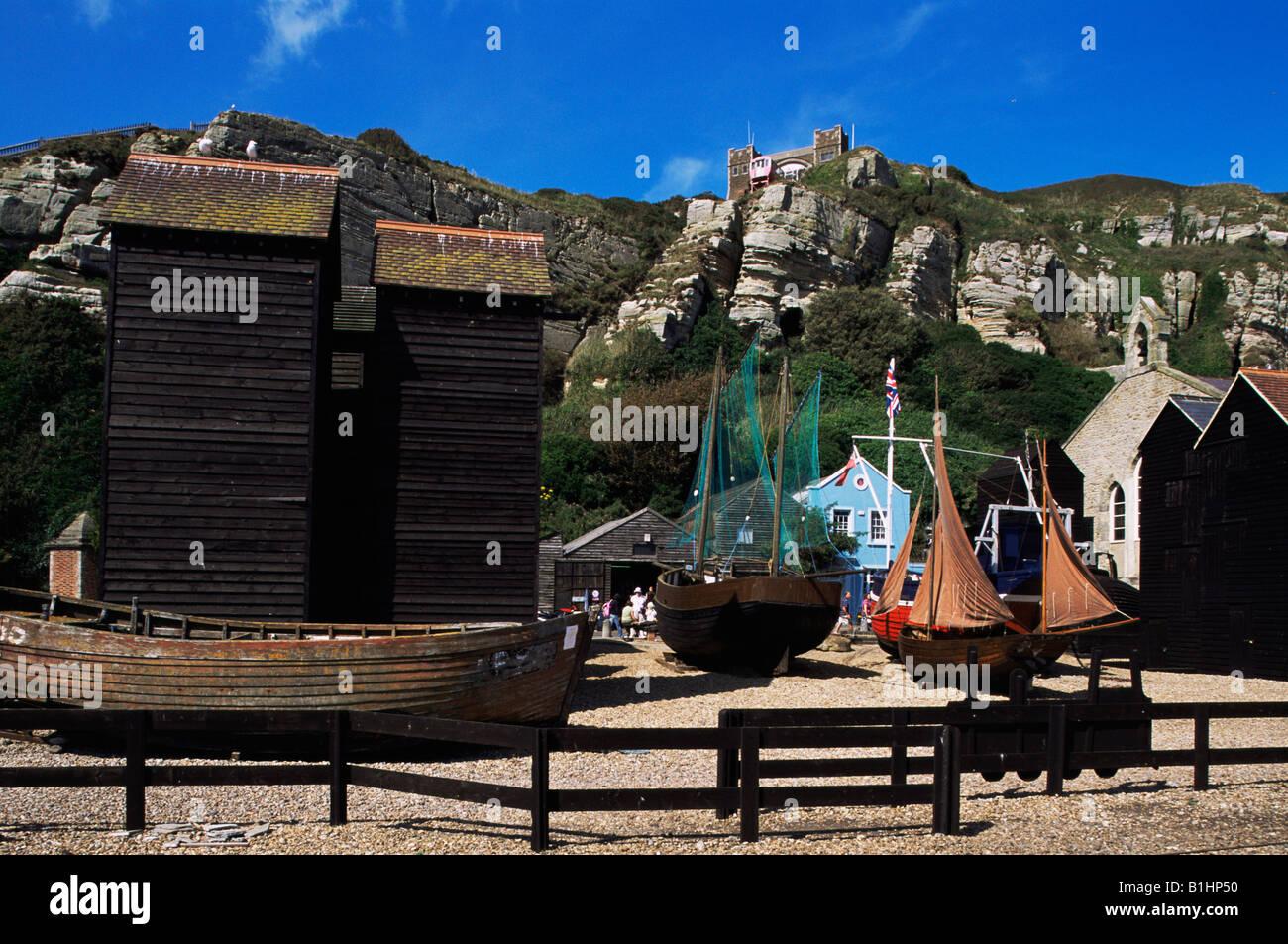 Hastings pêcheurs filet Hut Bird Box
