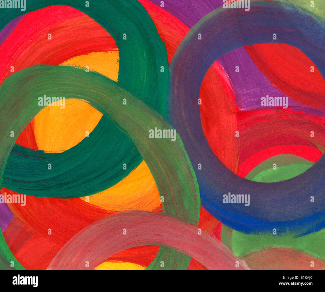 Contexte aquarelle cercles Photo Stock