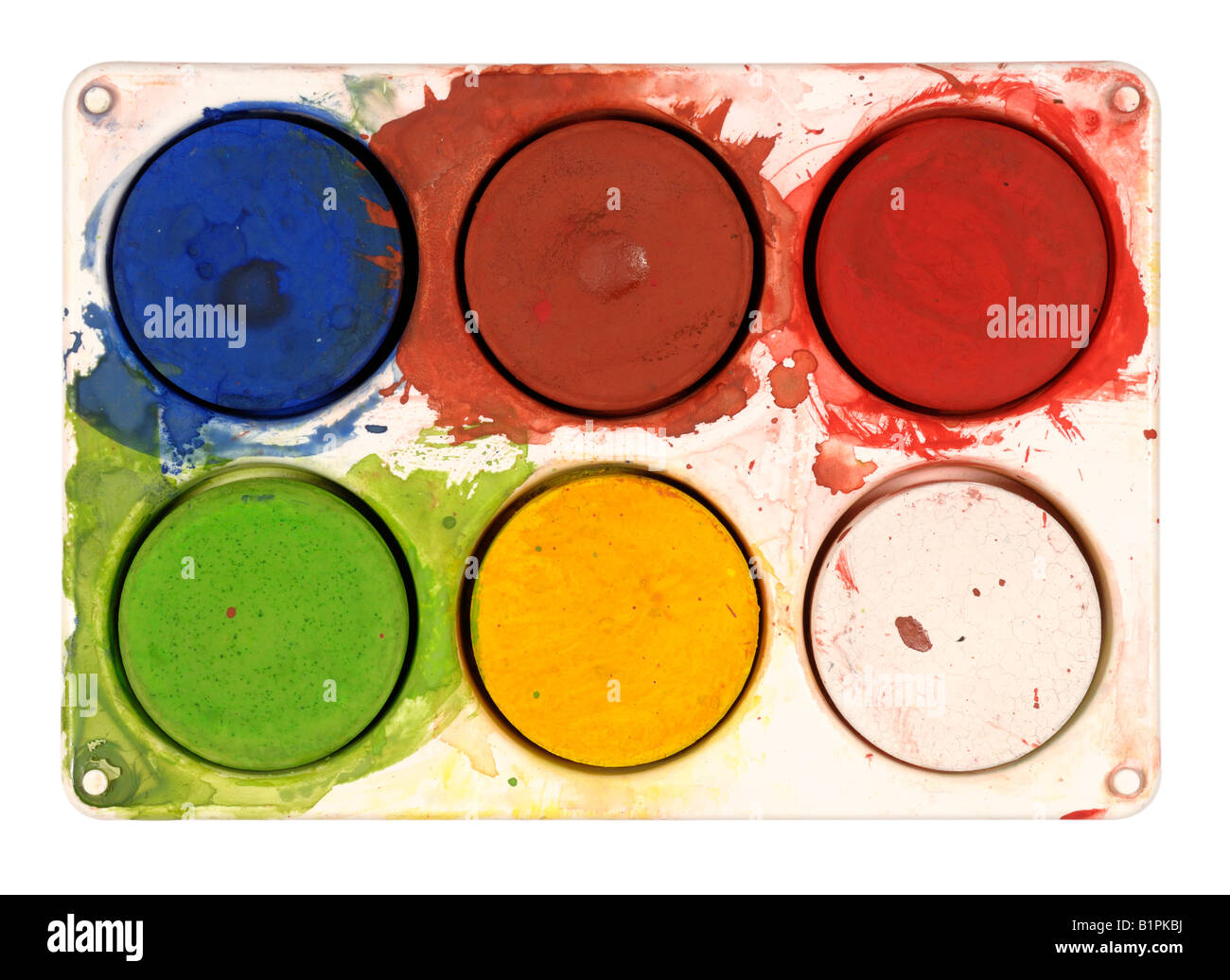 Palette de l'artiste Photo Stock