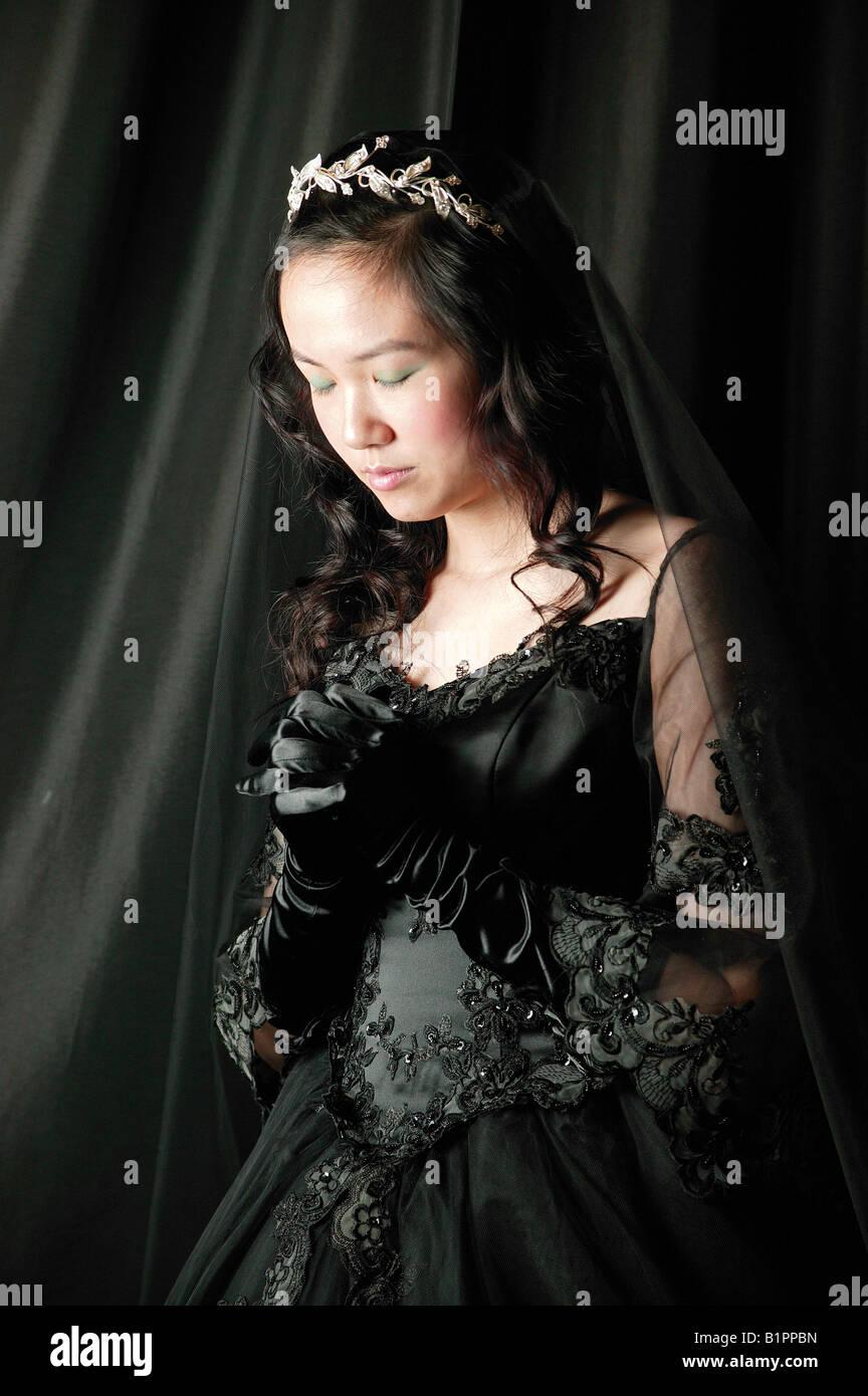 Gril mariage vampire femme fantôme Photo Stock