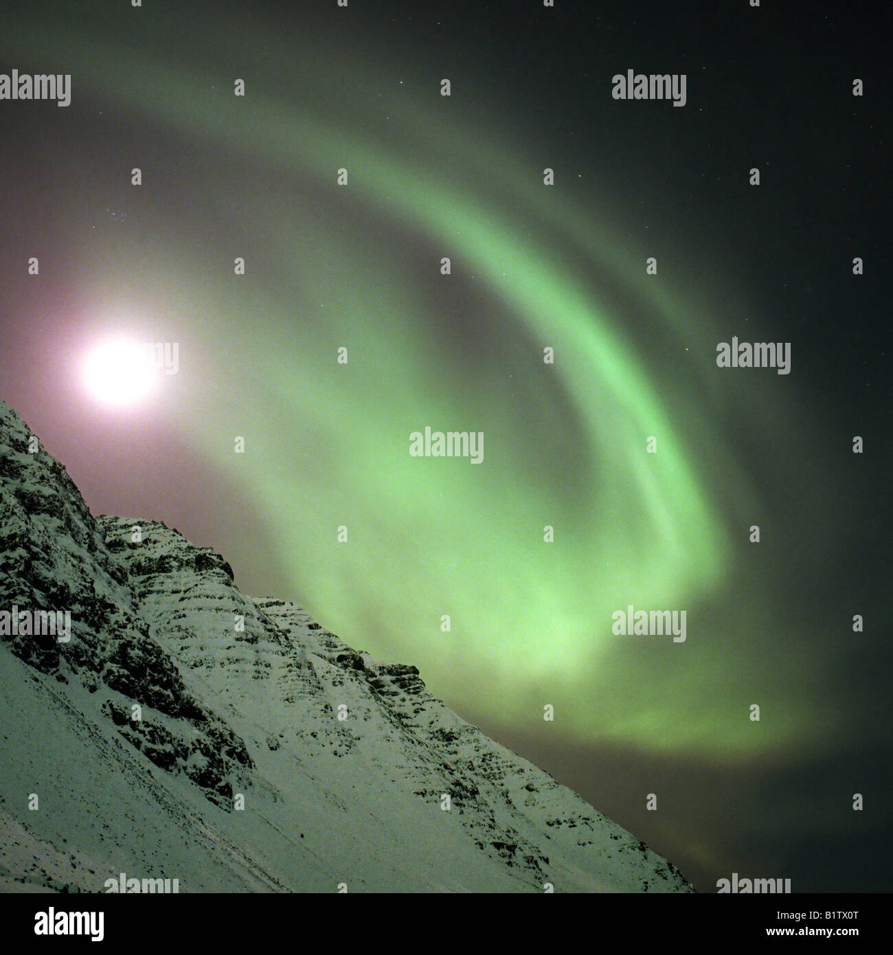 Aurora Borealis ou Northern Lights, de l'Islande Photo Stock