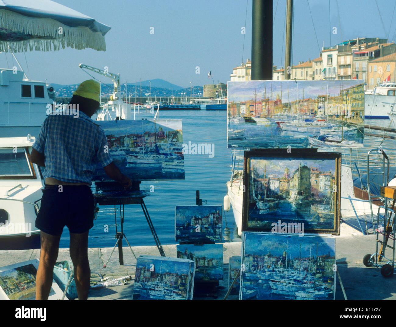 Artiste Peintre St Tropez artiste st tropez port sud de france chevalet peinture