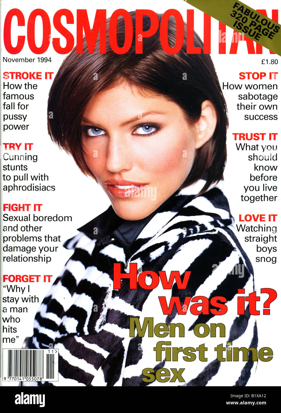 UK Magazine Cosmopolitan Novembre 1994 pour un usage éditorial uniquement Photo Stock
