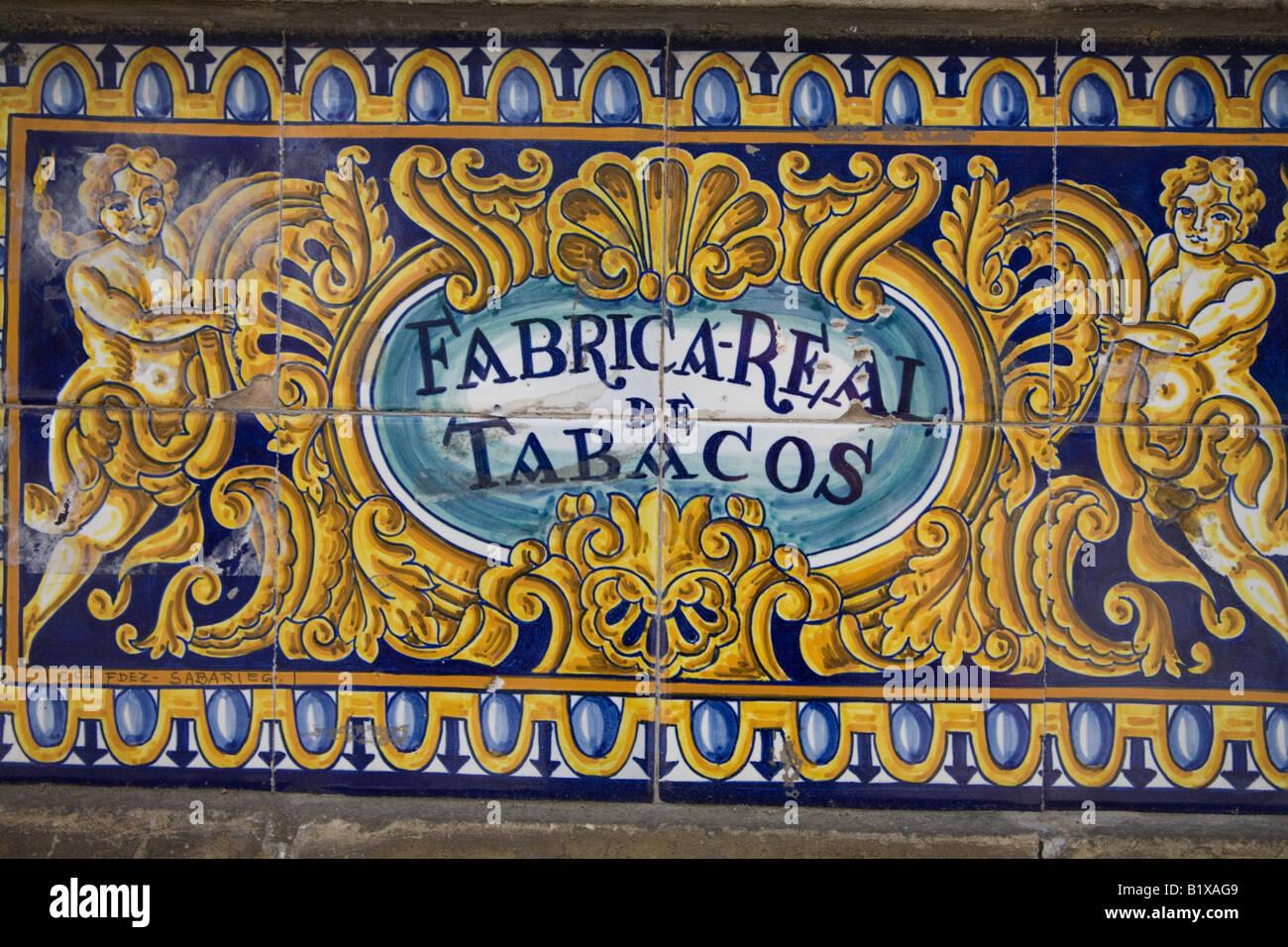 Carrelage à La Antigua Fabrica De Tabacos Ancienne Usine De Tabac
