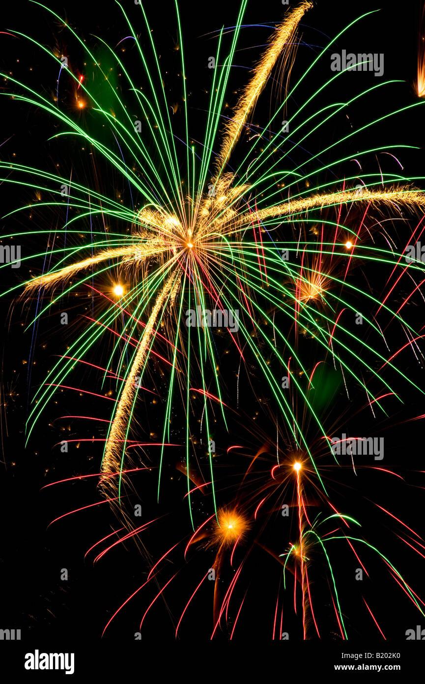 Fireworks 4 Juillet Banque D'Images