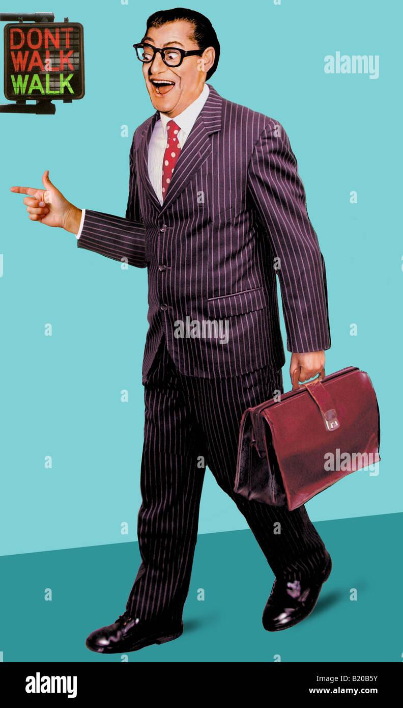 Homme d'affaires pointues Photo Stock