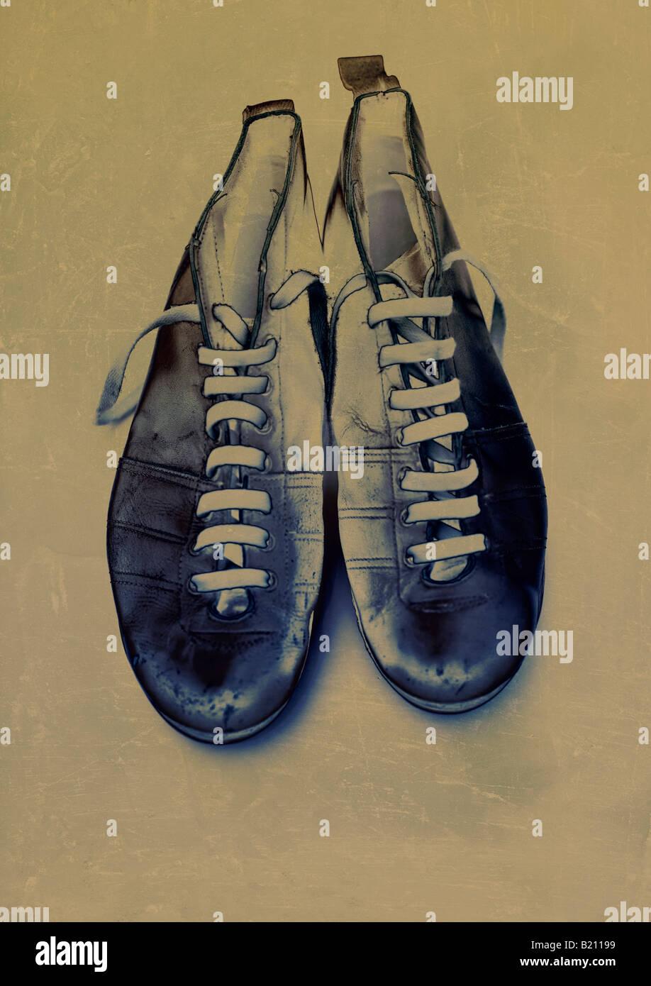 Illustration des chaussures de football Photo Stock