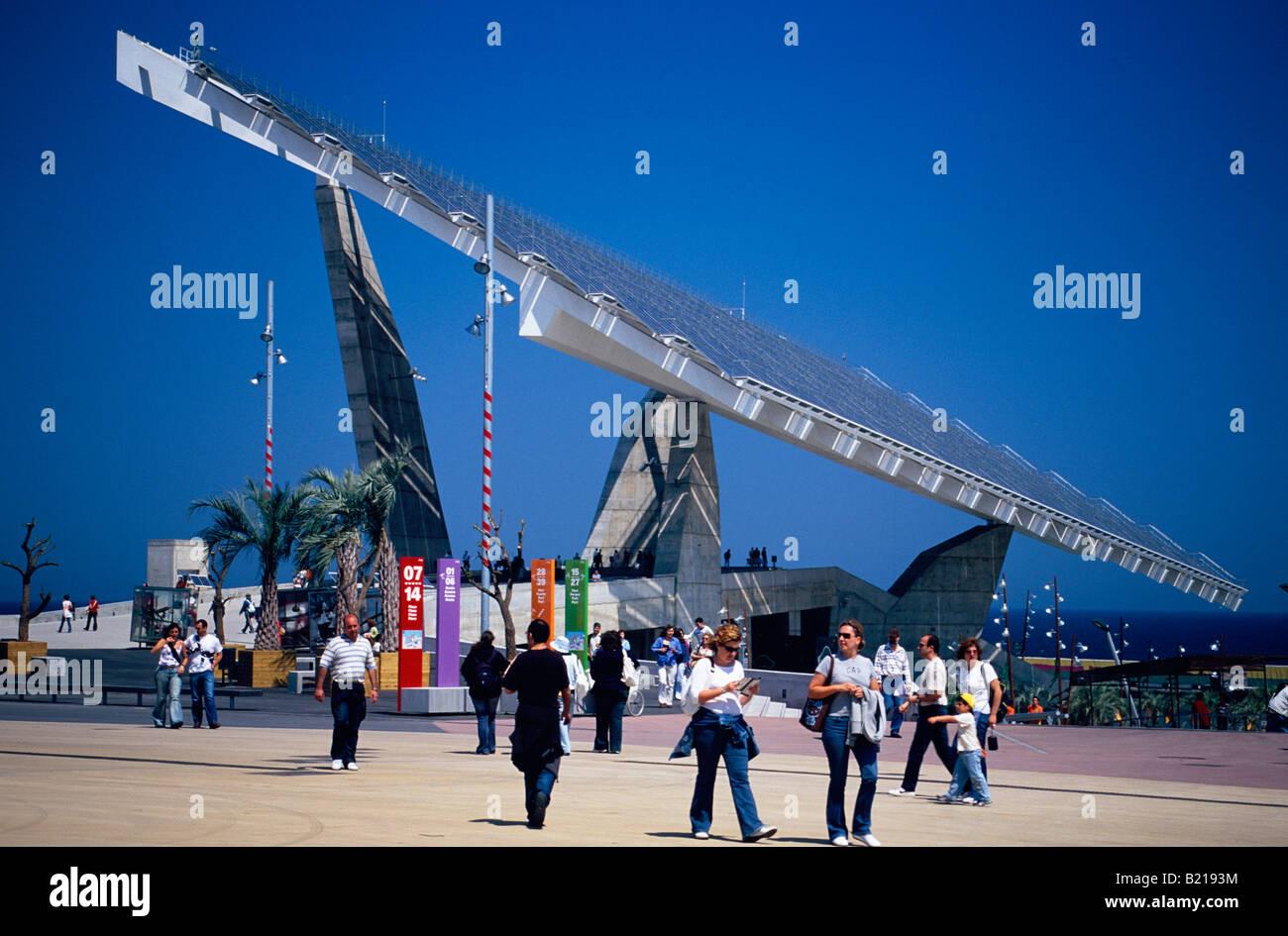 Forum 2004 Barcelone Catalogne Espagne Banque D'Images