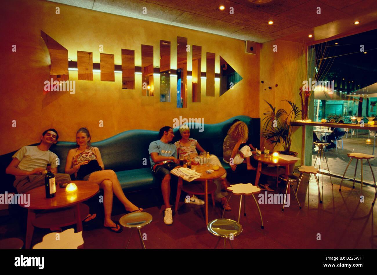 Rita barre bleue dans le Raval Barcelone Catalogne Espagne Banque D'Images