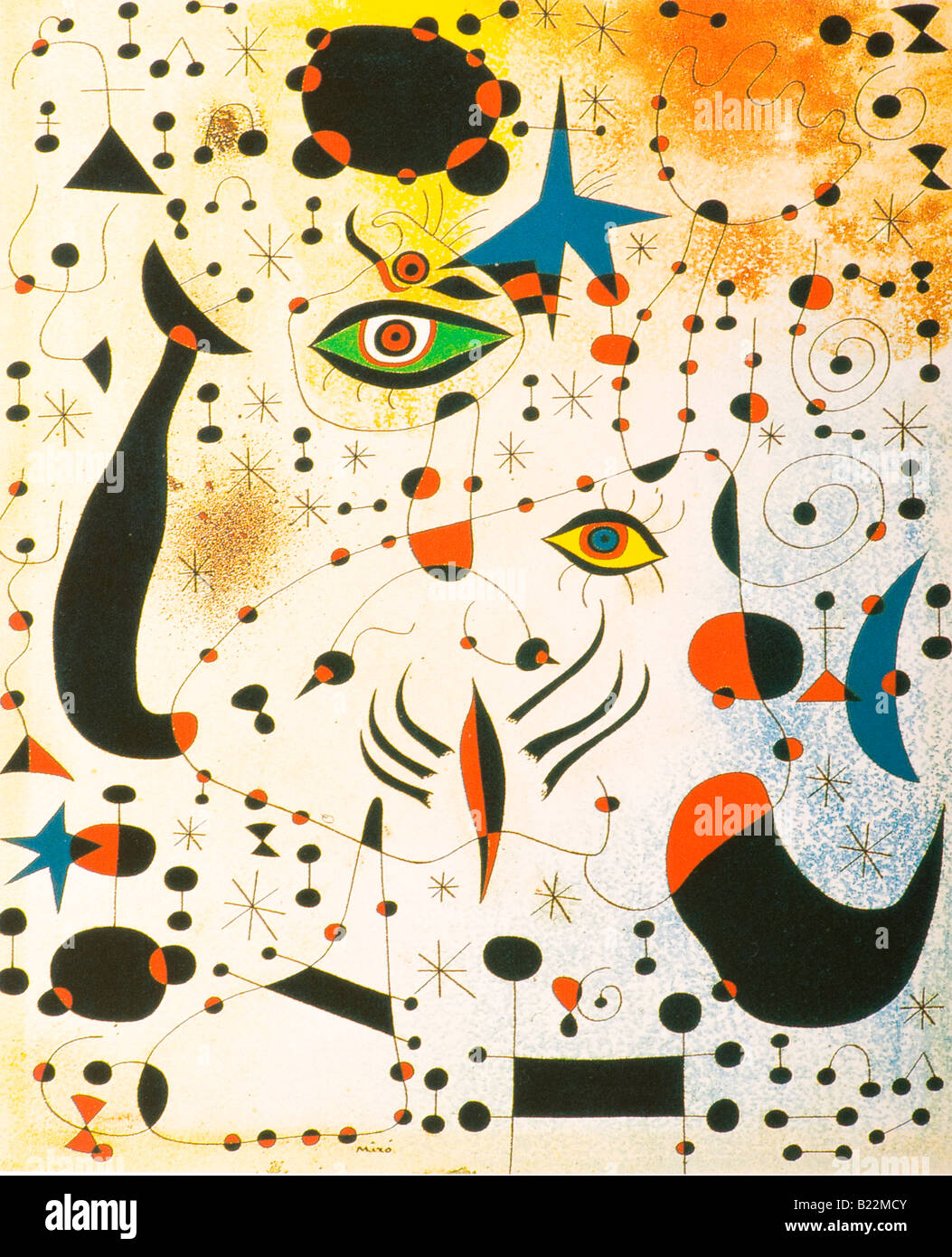 La peinture de Joan Miro Photo Stock