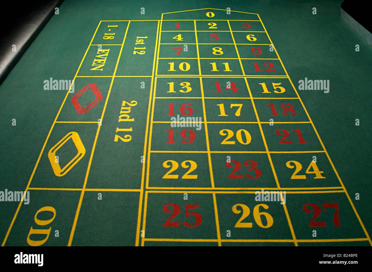 Table de roulette vide Photo Stock