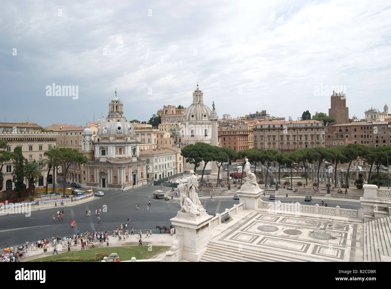Monument à la place de Venise. Photo Stock