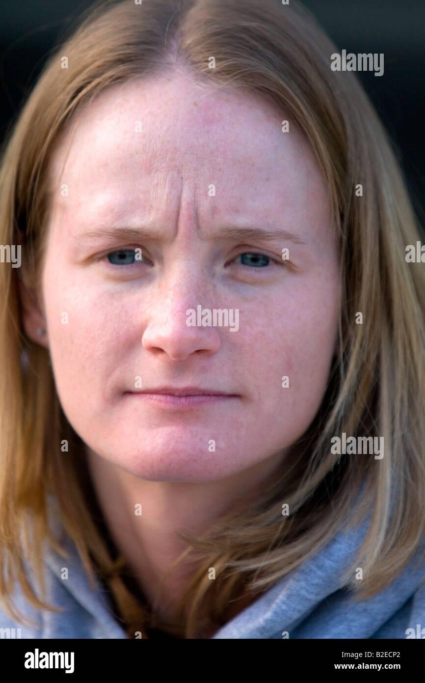 Portrait d'une femme blanche dans le Michigan Banque D'Images