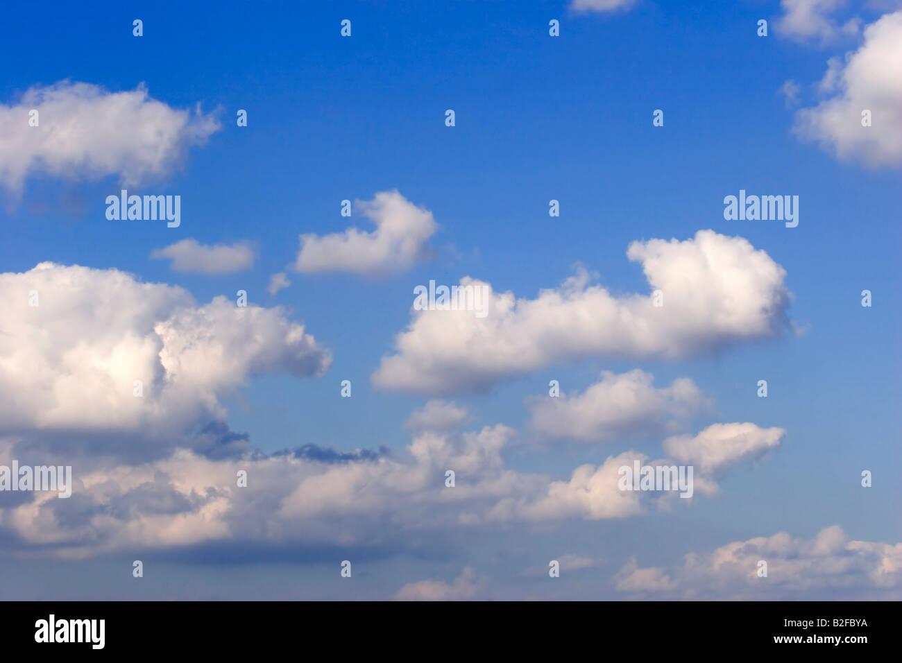 Les nuages blancs, ciel, bleu, le ciel, le ciel, Photo Stock