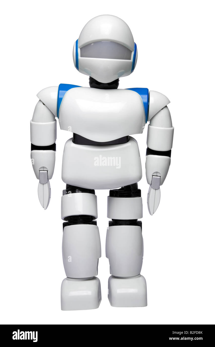 Robot blanc Photo Stock