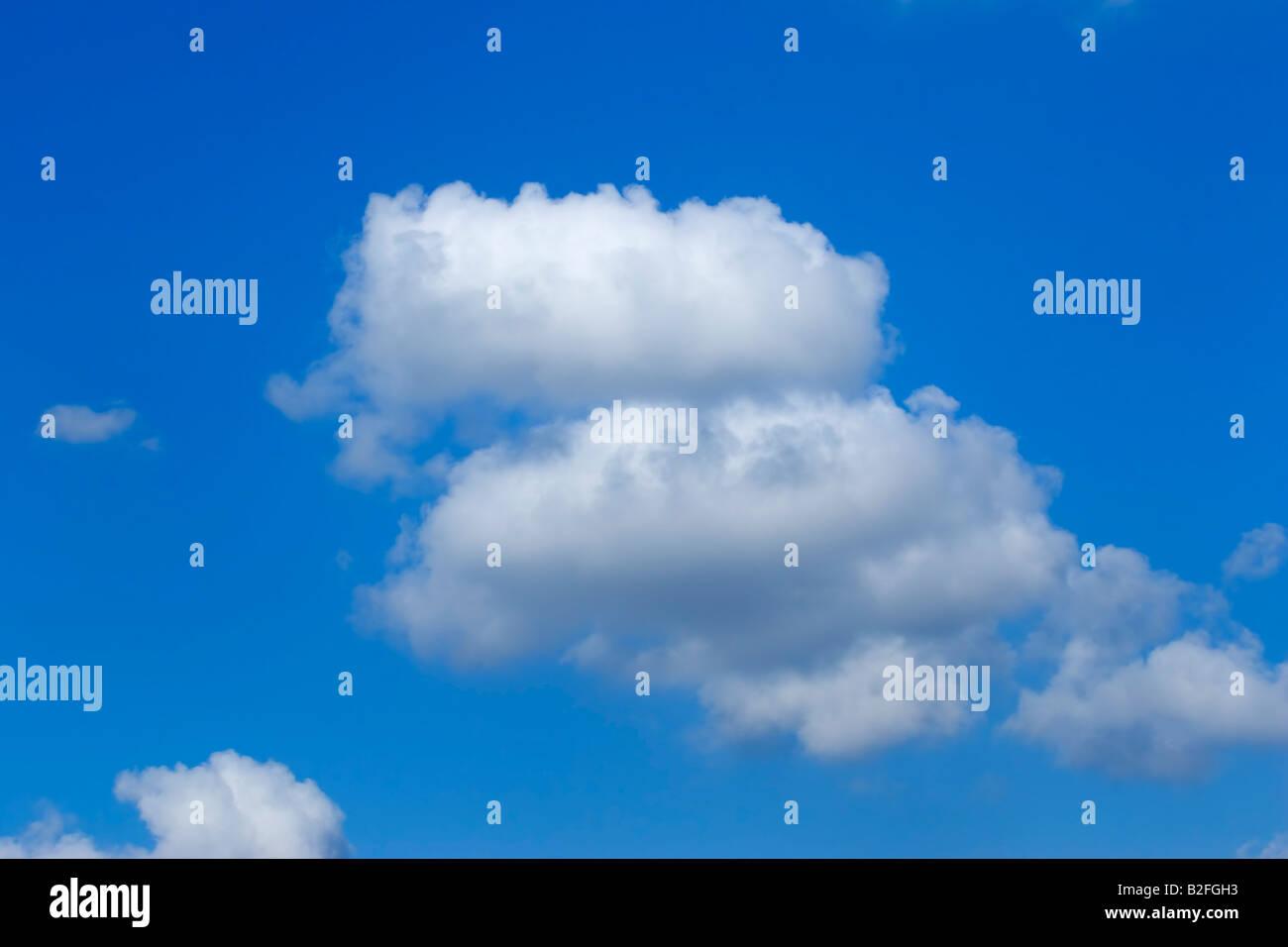Les nuages blancs, ciel, bleu, le ciel, ciel, lumineux, Photo Stock