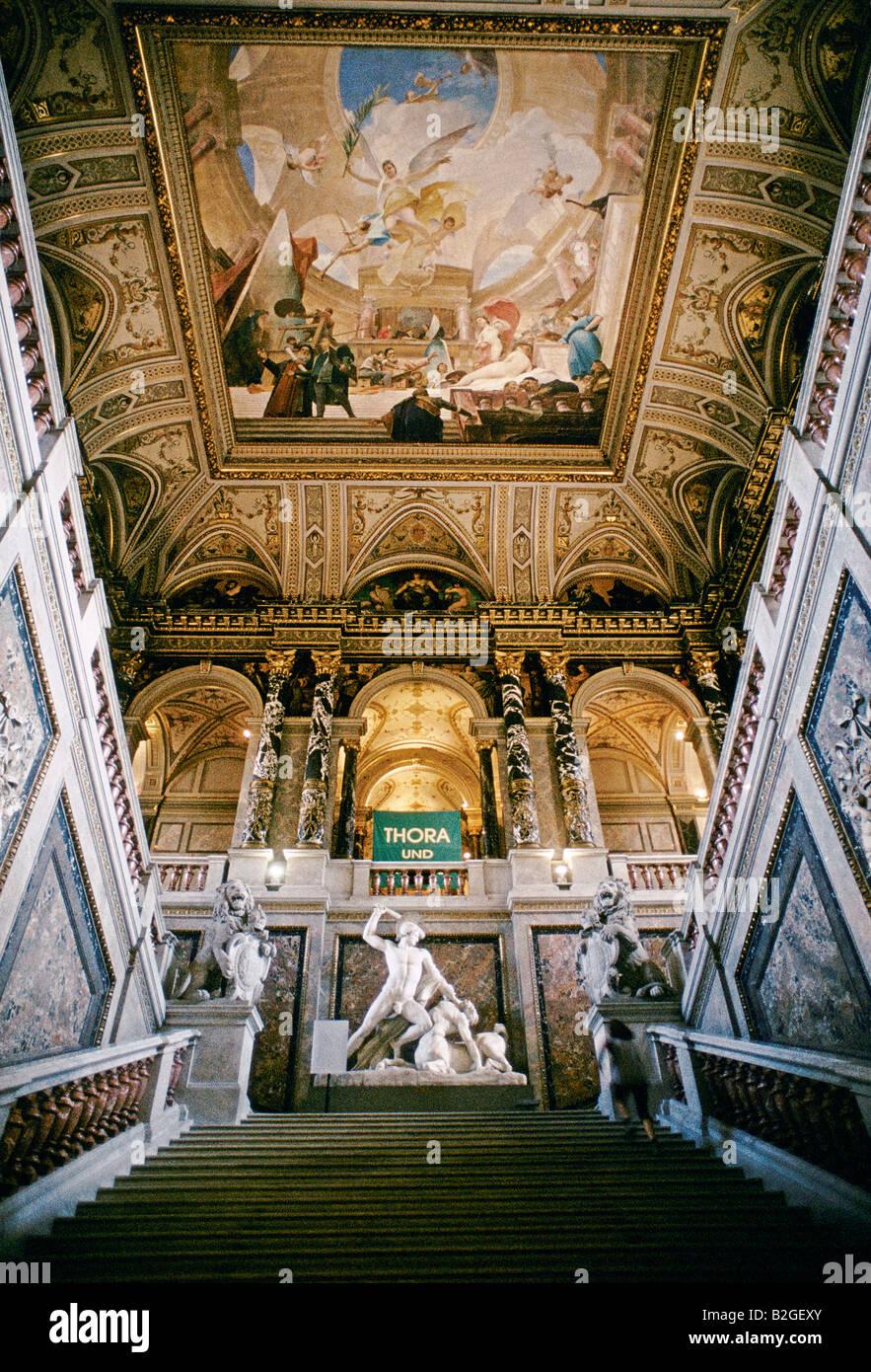 Vienne 1995 L'INTÉRIEUR DE MUSÉE DES BEAUX-ARTS DE VIENNE Photo Stock