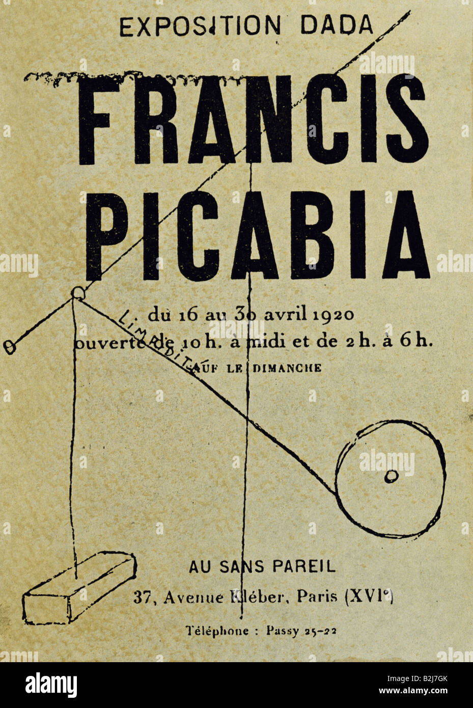 """Picabia, Francis, 22.1.1879 - 30.11.1953, peintre Français, les œuvres, l'exposition """"dada"""", Photo Stock"""
