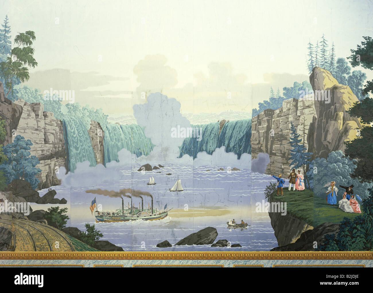 Geographie Voyages Usa Niagara Falls Avec Bateau A Vapeur Erie