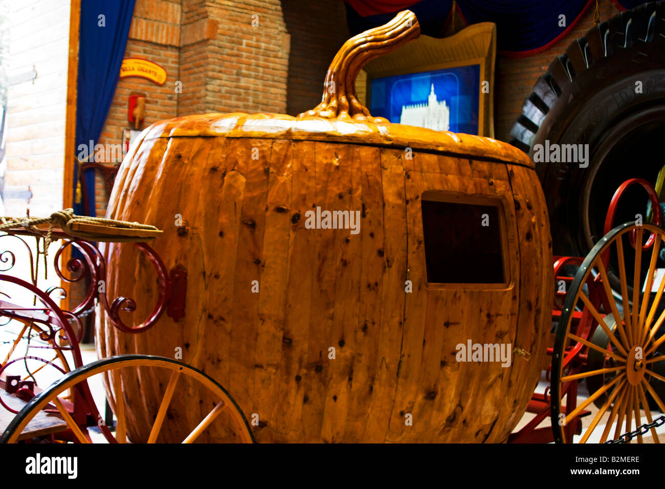 Mexico, District Fédéral, DF, Ripley's Museum de l'entraîneur de la citrouille de Cendrillon Photo Stock