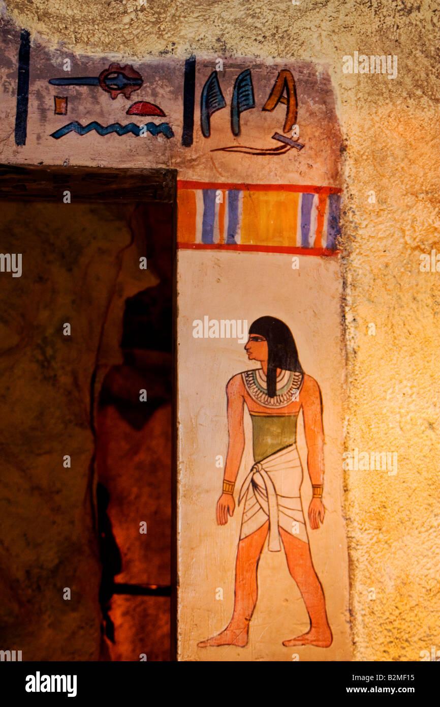 Mexico, District Fédéral, DF, Ripley's Museum et l'égyptien hiéroglyphique égyptien Photo Stock