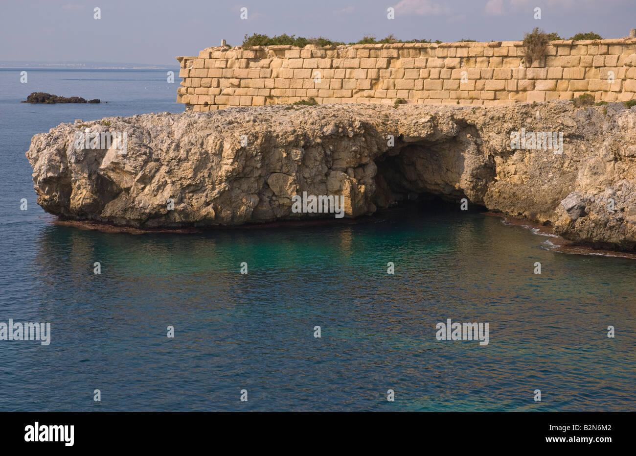 Cove de Llop Mari Pirates Cove à l'île de Tabarca Espagne continentale Photo Stock