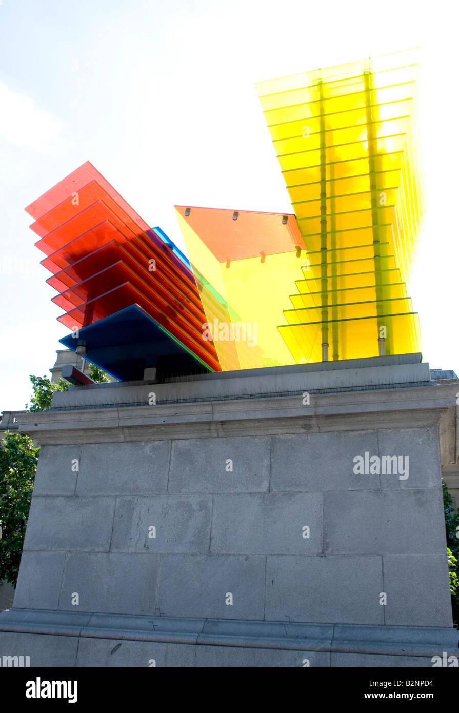 Quatrième Plinth à Trafalgar Square, Londres Banque D'Images