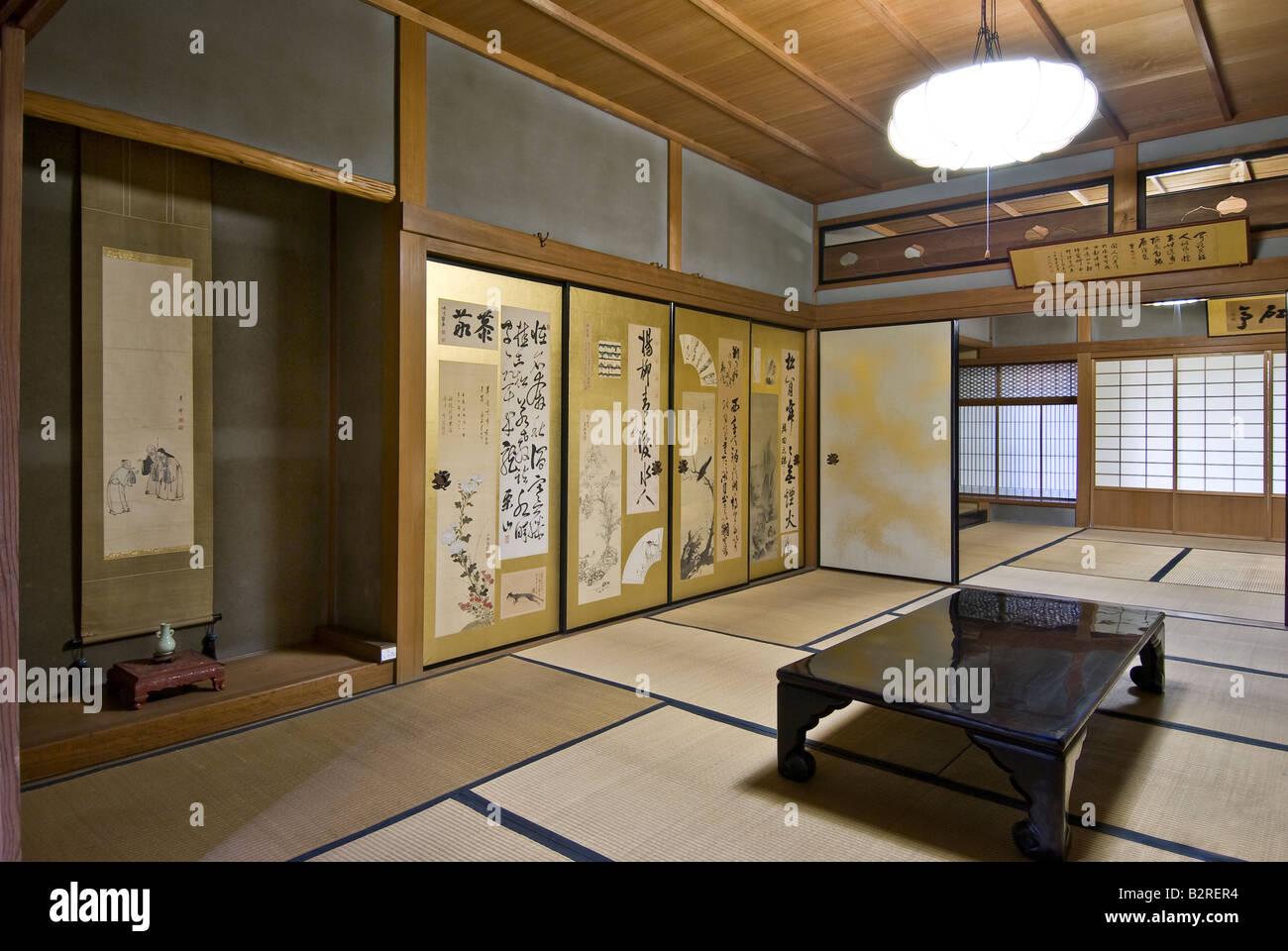 Interieur Maison Japonaise Traditionnelle le japon, kyoto, maison traditionnelle de l'intérieur