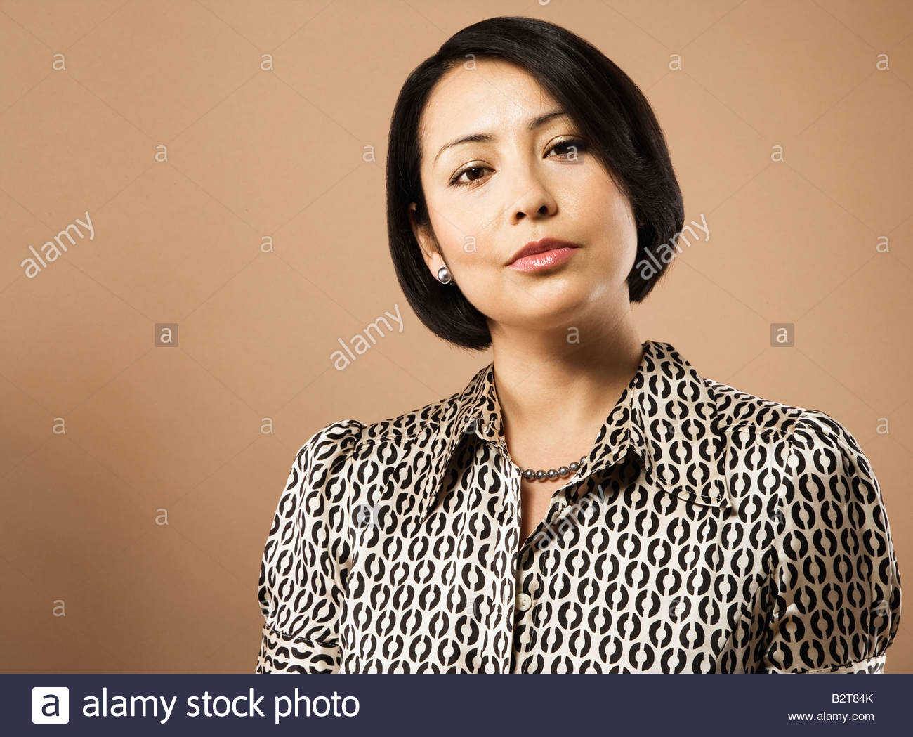 Businesswoman with serious expression Photo Stock