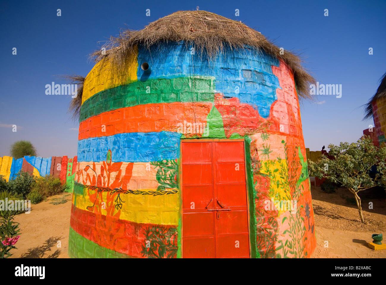 Artist Colony, grand désert de Thar, près de Jaisalmer, Rajasthan, Inde, sous-continent indien, en Asie Banque D'Images